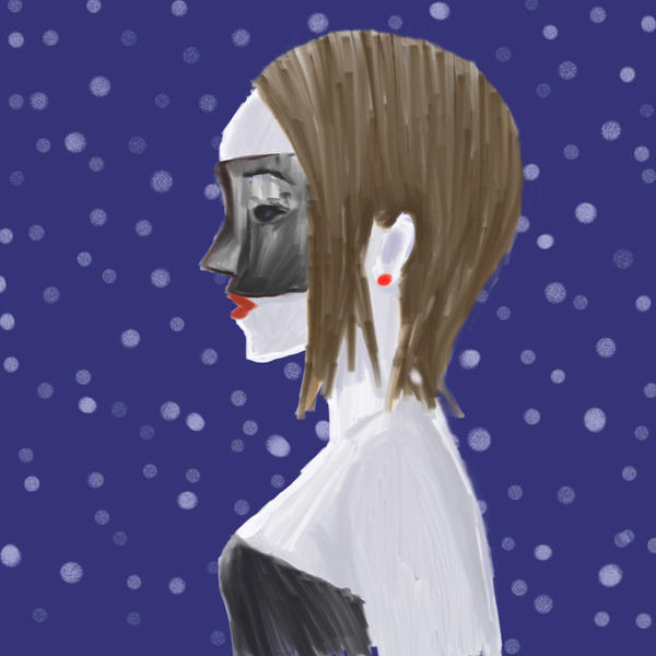Mask and Snowflakes by bluenorthhope