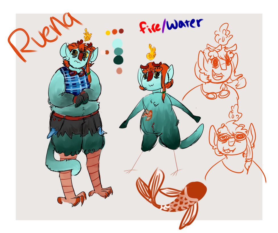 Ruena Of The Open Water by Limesparrow