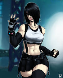 Ayumi in Tifa's FF7R Outfit