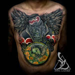 Ismaels-Flying-Monkey-Chest-Cover-Up-Tattoo-by-Ben