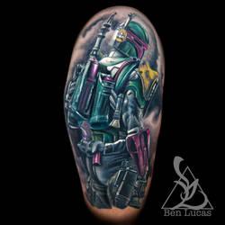 Bob-Fett-half-sleeve-tattoo-by-ben-lucas-at-eye-of