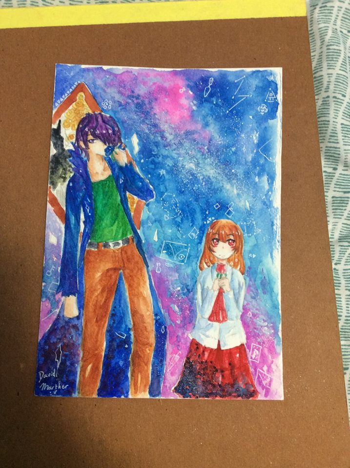 fanart ib and Garry from ib game by David-Marther