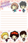 nodame cantabile letter paper