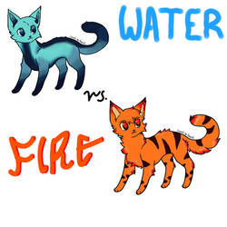 Fire and Water Cat Adoptables OPEN