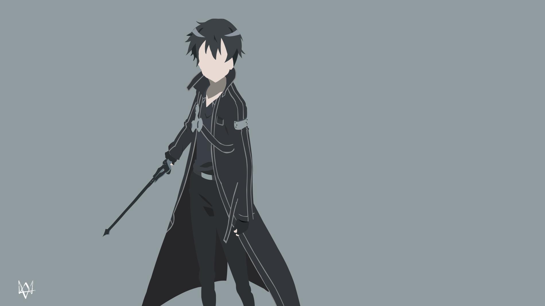 Kirigaya kazuto sword art online minimalist by for Minimal art online