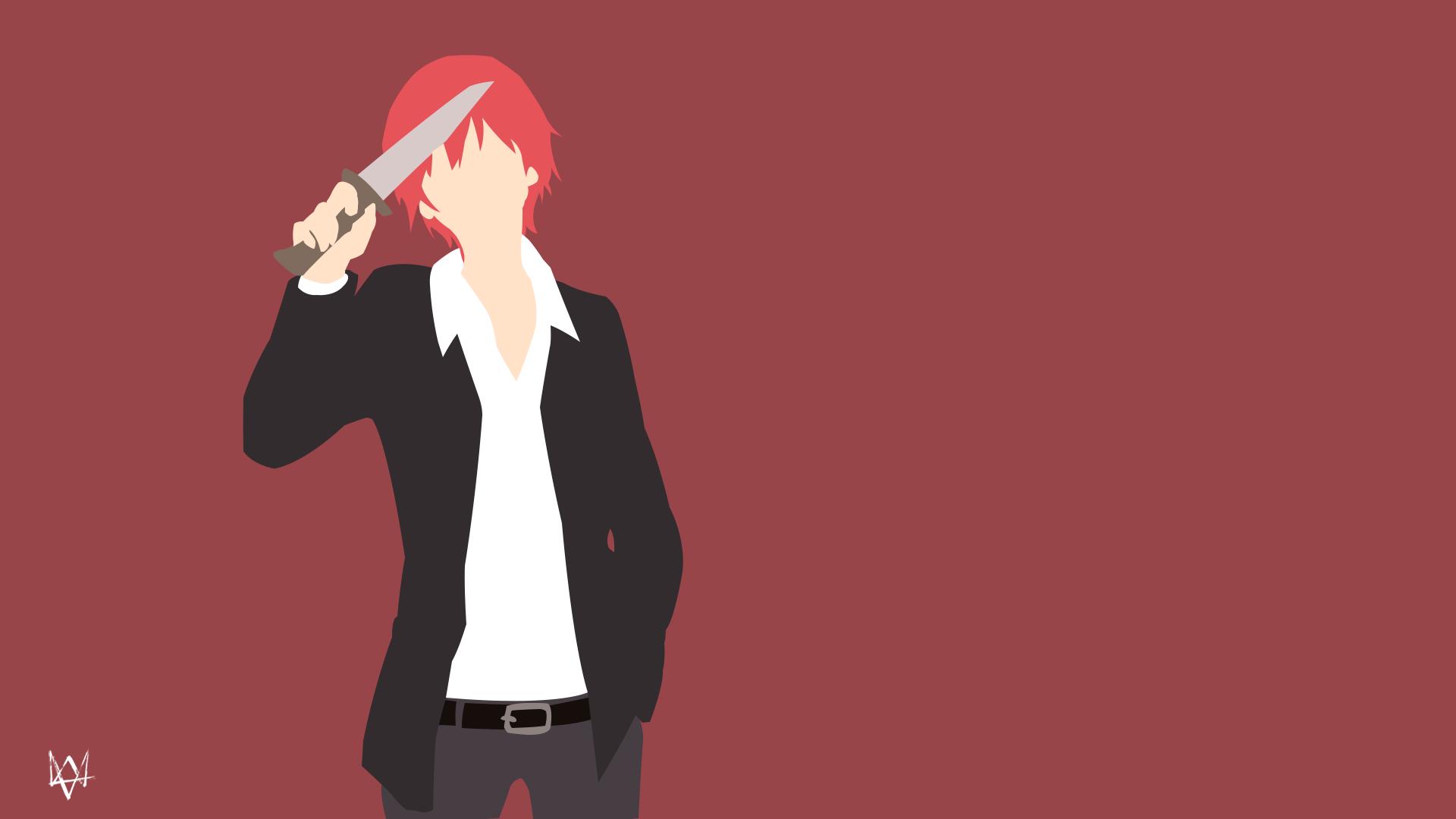 Assassination Classroom Minimalist Wallpaper ~ Karma akabane ansatsu kyoshitsu minimalist by lucifer