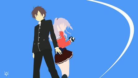 Yuu and Nao (Charlotte) Minimalist Wallpaper Anime