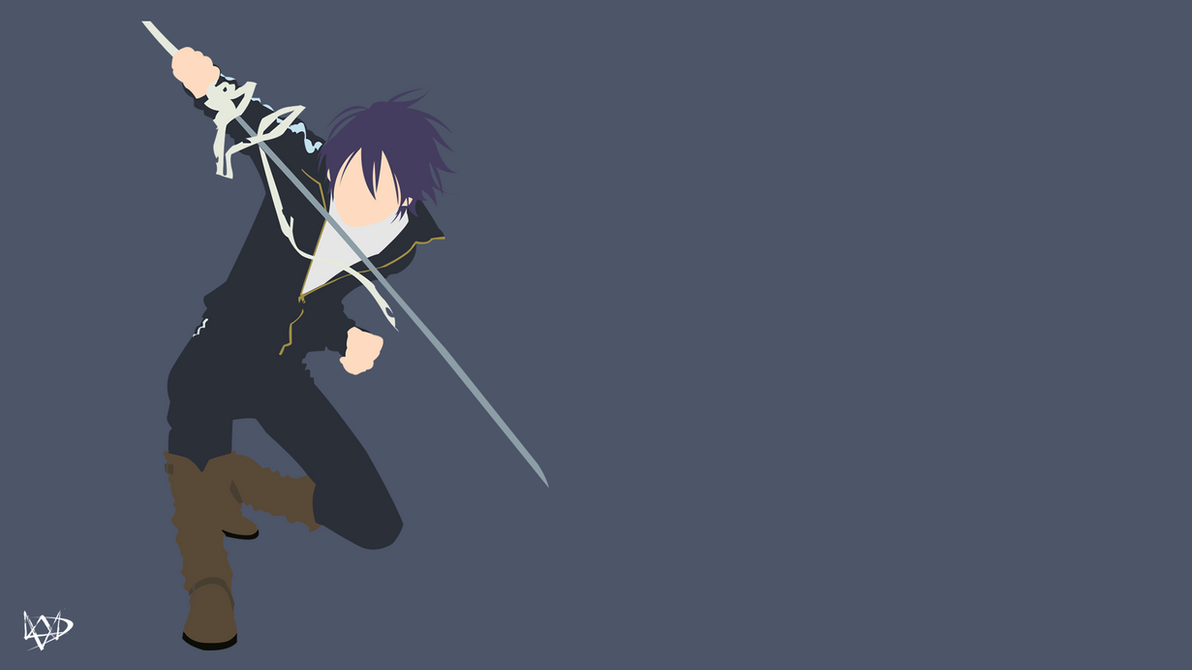 Yato noragami aragoto minimalist anime wallpaper by for Deviantart minimal wallpaper