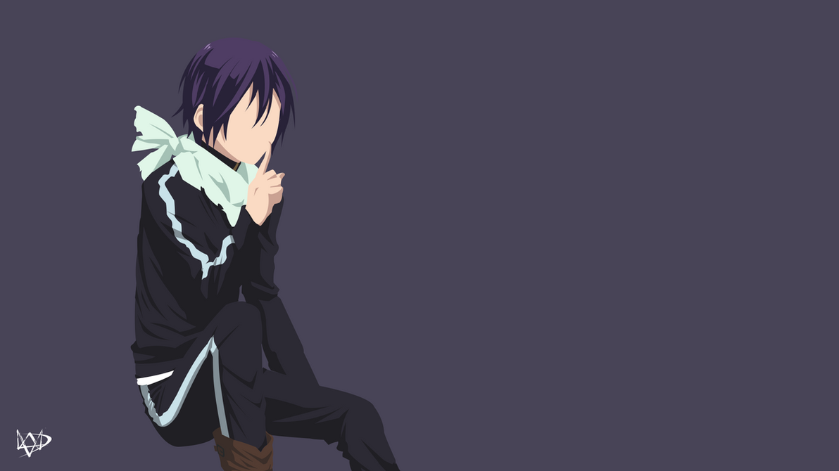 Yato v3 noragami minimalist anime wallpaper by for Deviantart minimal wallpaper