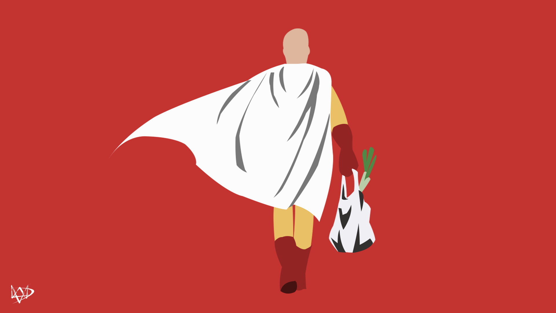 Saitama (One Punchman) Wallpaper Minimalist Anime by ...