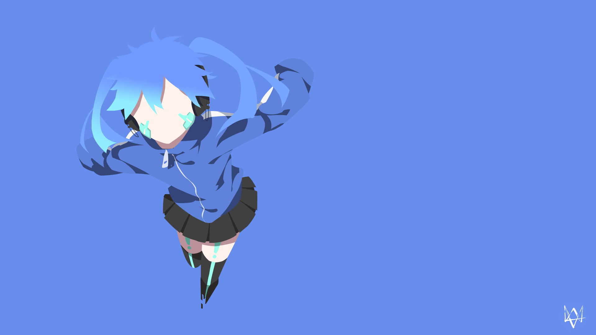 Ene mekakucity actors minimalist anime wallpaper by for Deviantart minimal wallpaper