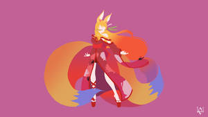 Miko (No Game No Life) Minimalist Anime Wallpaper by Lucifer012