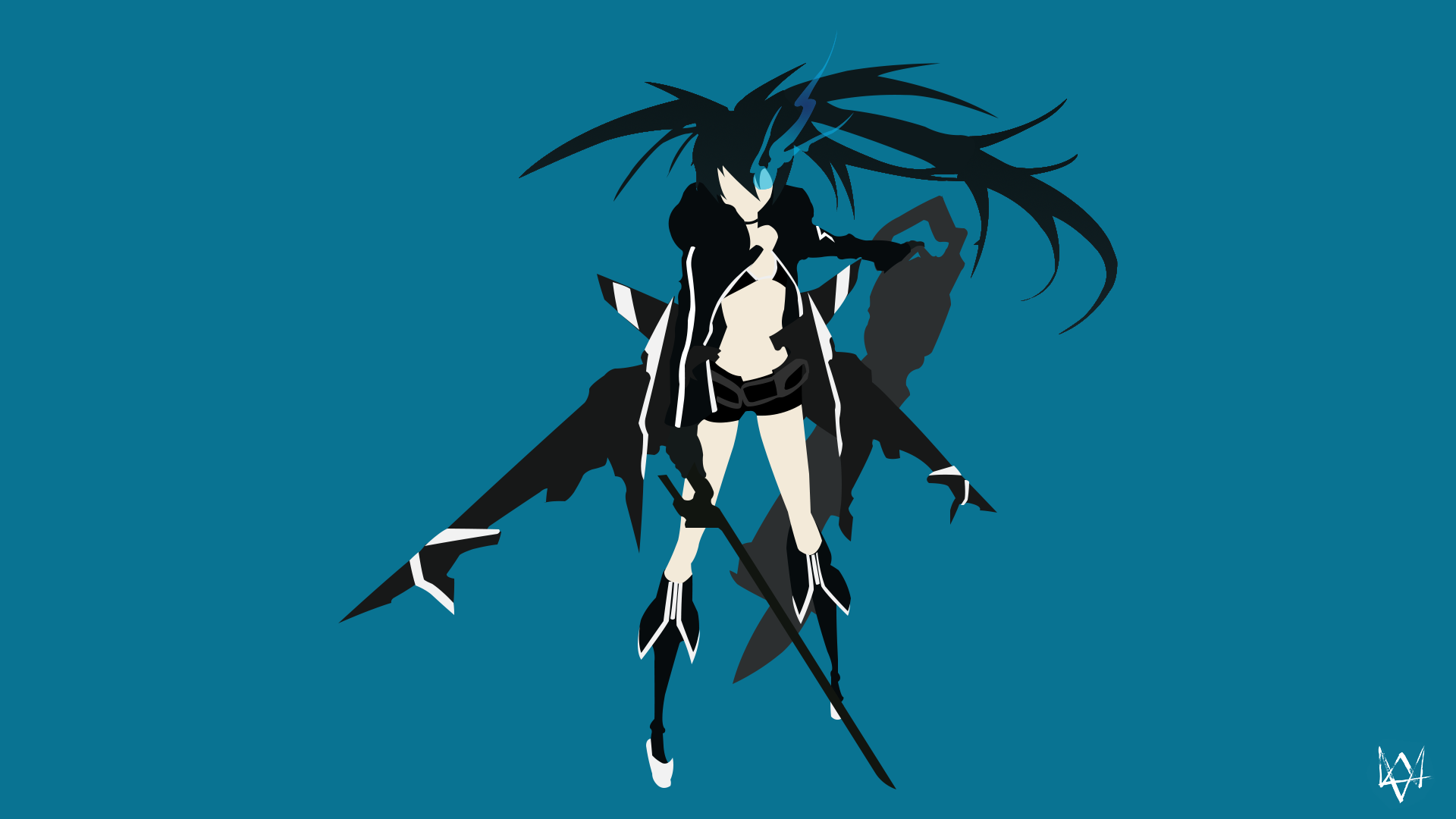 Black Rock Shooter Minimalist Anime Wallpaper By Lucifer012 On