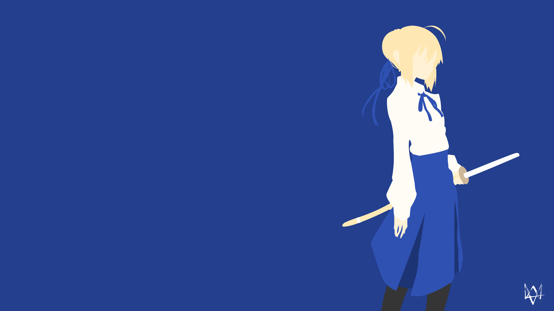 Saber | Fate/Stay Night Minimalist Anime by Lucifer012 on ...