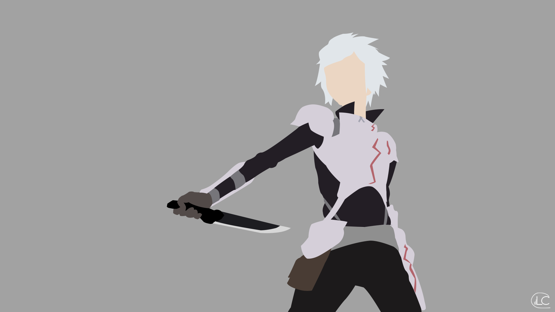Bell cranel danmachi minimalist anime by lucifer012 on for Deviantart minimal wallpaper