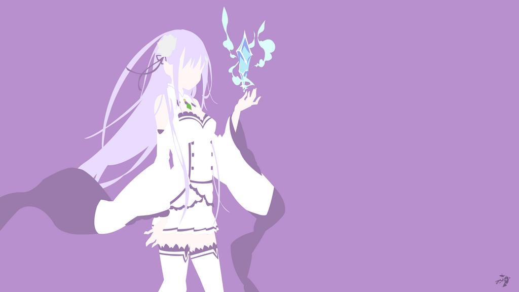 Emilia   Re Zero Minimalist Anime by Lucifer012 on DeviantArt
