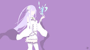 Emilia | Re Zero Minimalist Anime by Lucifer012
