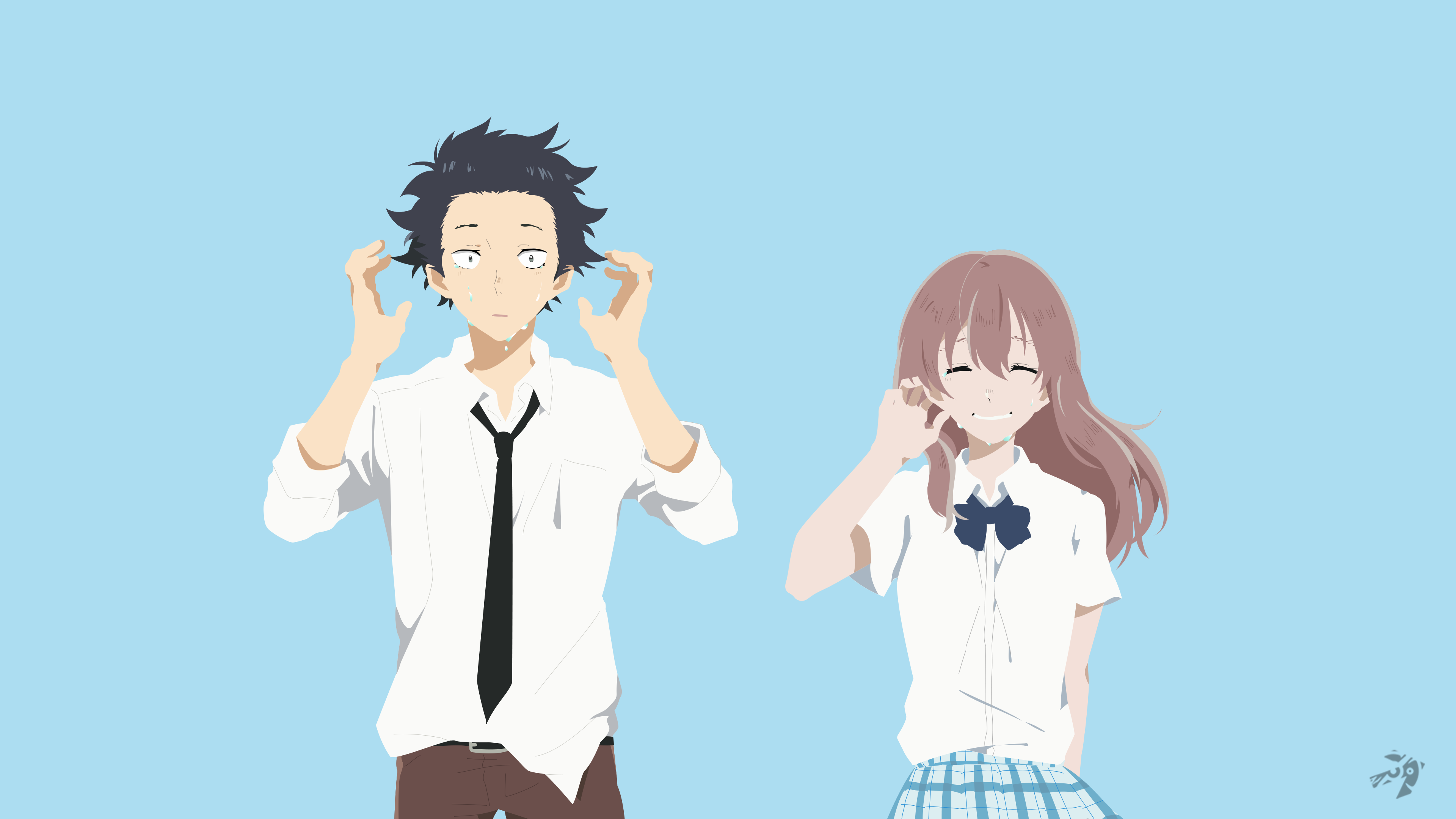 Koe no katachi minimalist anime by lucifer012 on deviantart for Koi no katachi