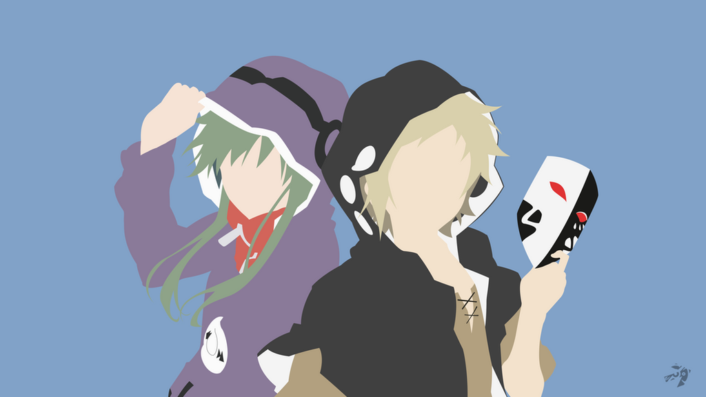 Kido and Kano   Mekakucity Actors Minimalist Anime by Lucifer012