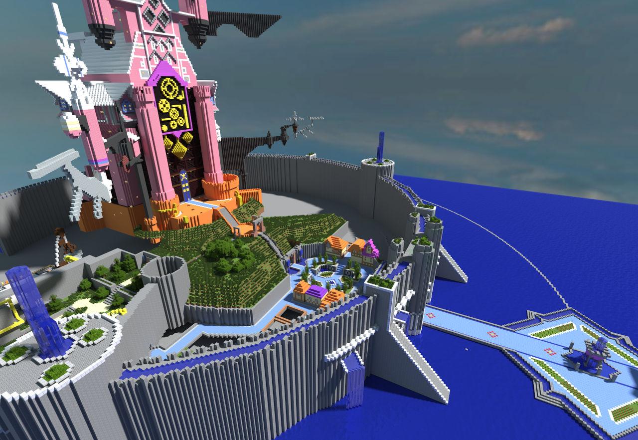 Minecraft Kingdom Hearts: Radiant Garden by Zimfan508 on DeviantArt