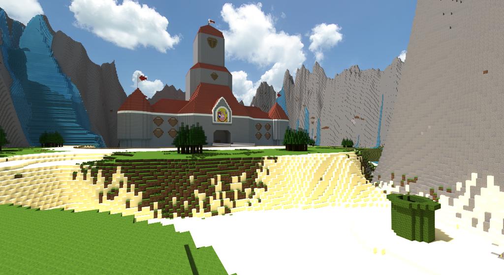 Minecraft Super Mario 64: Peach\'s Castle by Zimfan508 on DeviantArt
