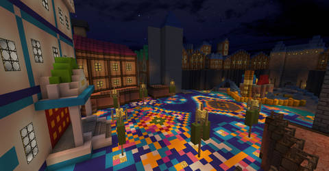 Minecraft Kingdom Hearts DDD: Fountain Plaza