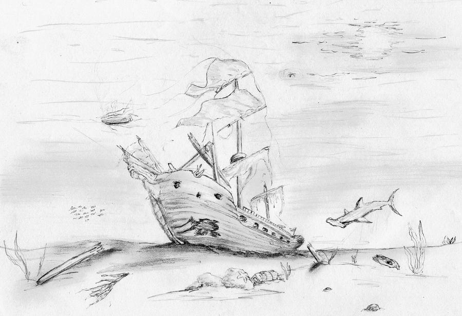 sunken ship by kytjunon on deviantart