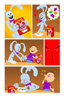 No Dialogue Comic Challenge - Silly Rabbit by genekelly