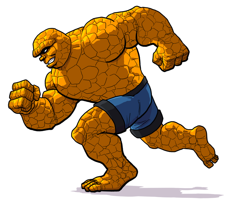 the great marvel race the thing by genekelly on deviantart rh genekelly deviantart com  fantastic four logo clipart