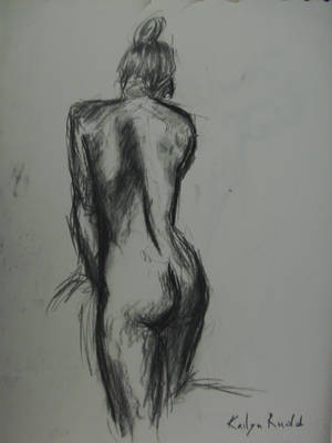 Life Drawing - Charcoal 06 by Aeovis