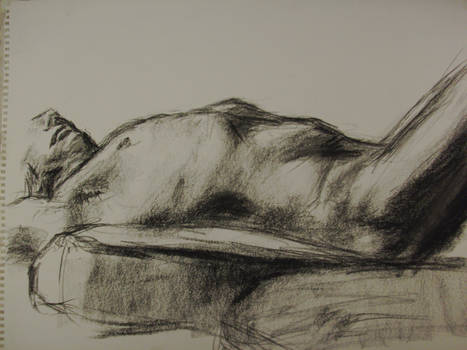 Life Drawing - Charcoal 08