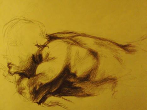 Life Drawing - Charcoal 10