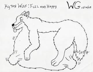 Kytan Wulf: Full and Happy by bigwolfbebad