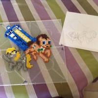 Allons-y! Perler beads by SugarMask