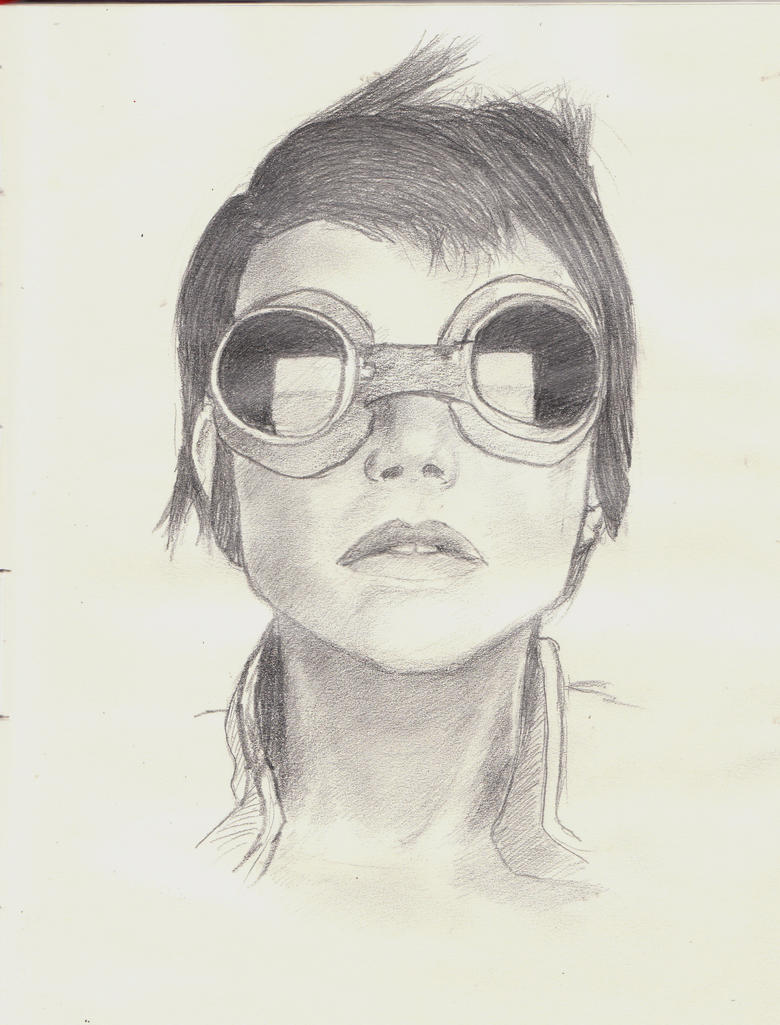 Girl with Goggles by Pensierorumoroso