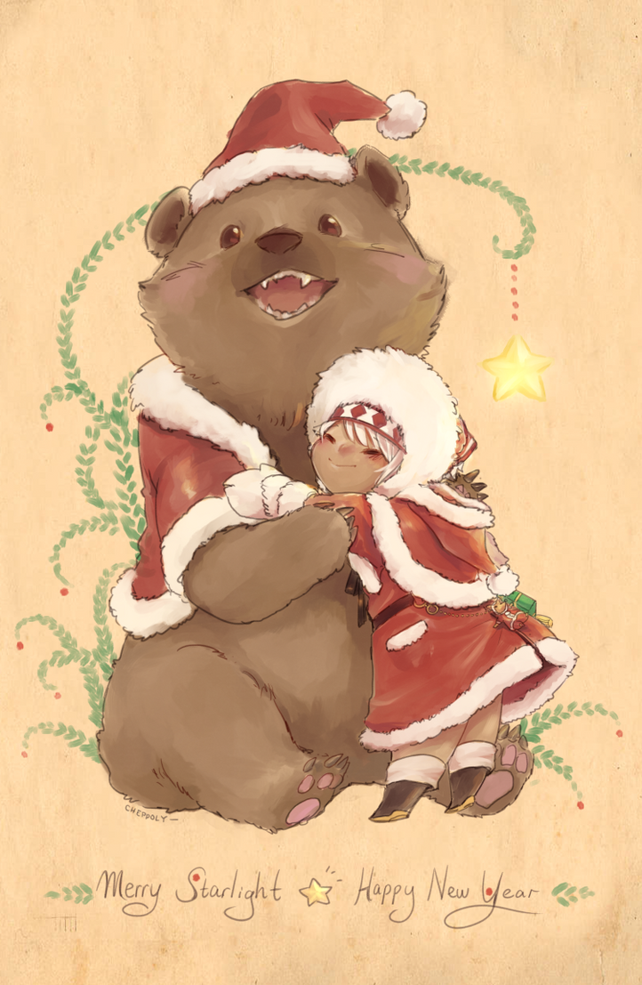 Merry Starlight Bear! by Cheppoly