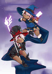Black Mage + Astrologian by Cheppoly