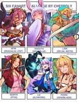Six Video Game Girls