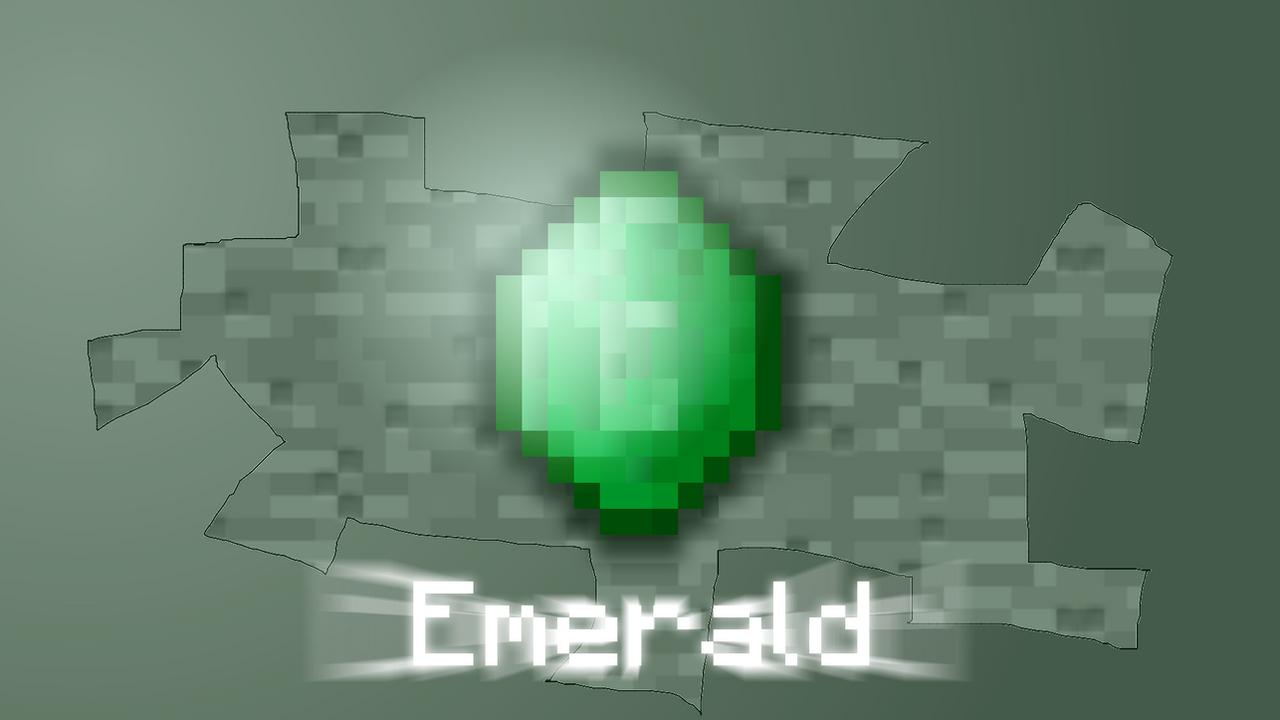 Minecraft Emerald Wallpaper Emerald wallpaper by