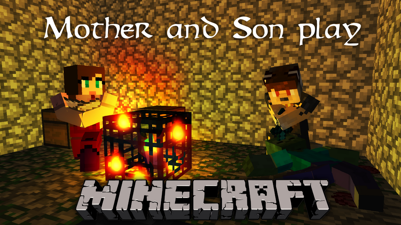 Most Inspiring Wallpaper Minecraft Poster - mother_and_son_play_minecraft___promotional_poster_by_imafutureguitarhero-d781zca  Pictures_593593.png