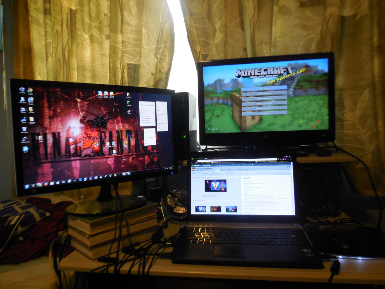 My gaming artmaking setup mk ii by imafutureguitarhero on for Cool gamer bedroom ideas