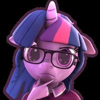 [SFM] [MLP] Twilight Sparkle Thinking Emoji by ImAFutureGuitarHero