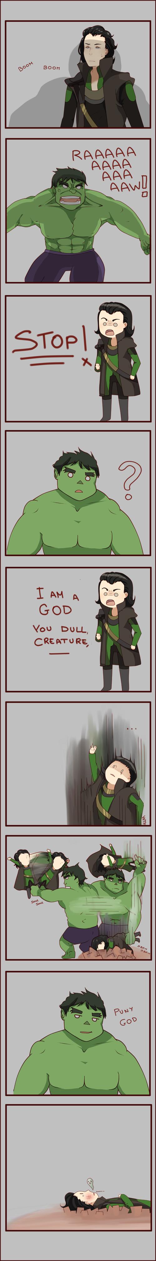 Loki vs Hulk SPOILER by ChocoHal