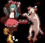 Minnie Mouse's  dress ( Jumping Dina and Kal )