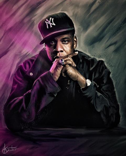 Jay-Z portrait by Ohitspixel