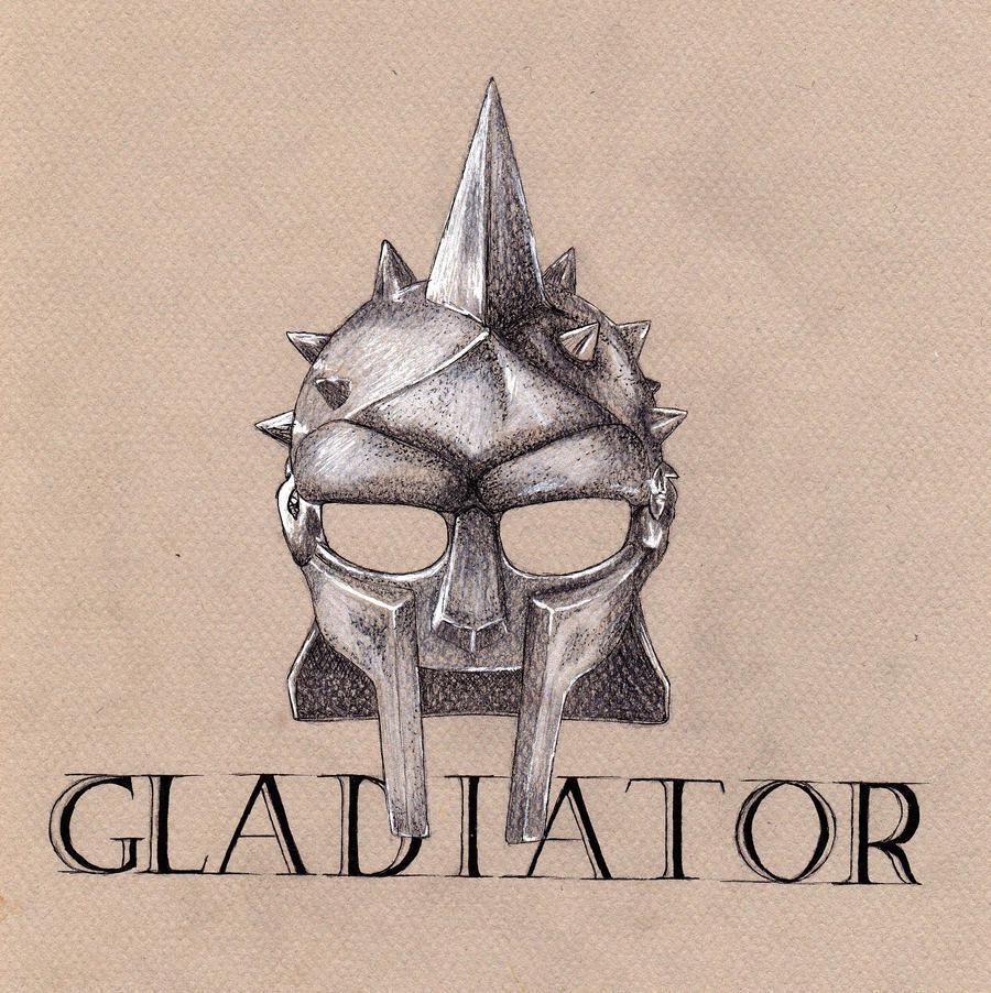 Gladiator Helmet Drawing Gladiator by wiegand90 Gladiator Sword ...