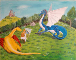 Dragon Painter by angelahedderick