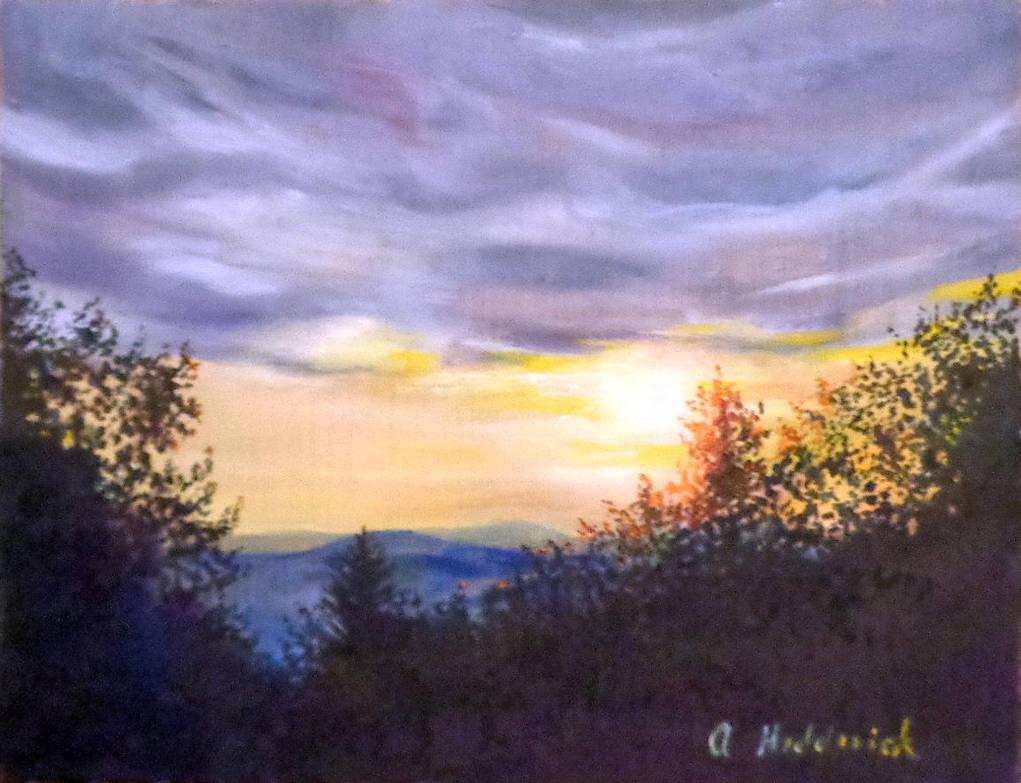 Snowshoe Sunset #3 by angelahedderick