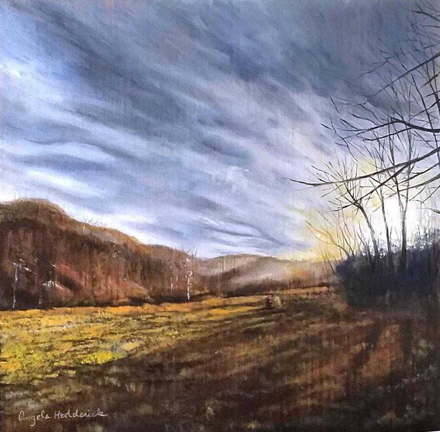 Winter Sunset by angelahedderick