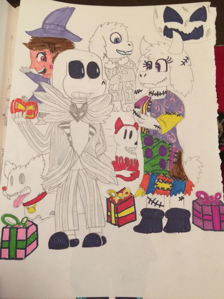 Nightmare before Christmas, Undertale by miller7751 on DeviantArt
